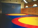 Kampfsporthallen Ausstattung für Zweikampf, Boxen, Ringen und mit Boxring