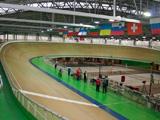 """Zentrum des Radsports """"Lokosphynx"""" Stadt Sankt-Petersburg, Russland"""