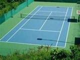 Ausrüstung für Tennisplätze und Tennisplatz und Tennishallen