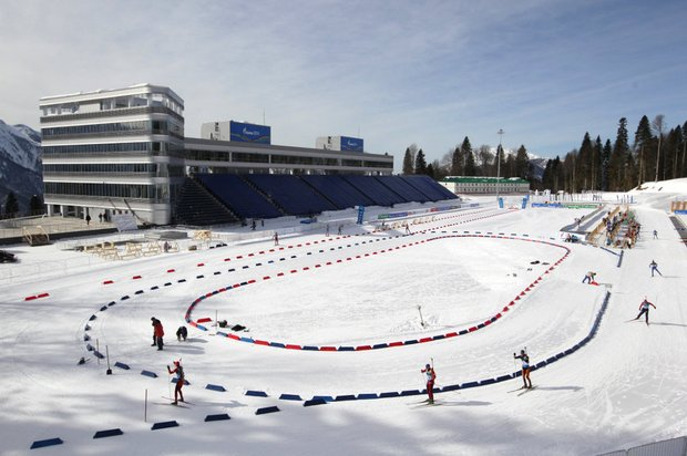 """Ski- und Biathlon-Komplex """"Laura"""" Stadt Sotschi, Russland"""
