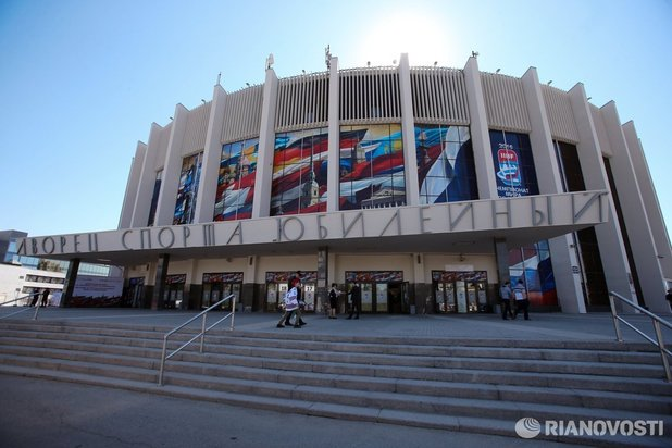 "Sportkomplex ""Jubileiny"" Stadt Sankt-Petersburg, Russland"