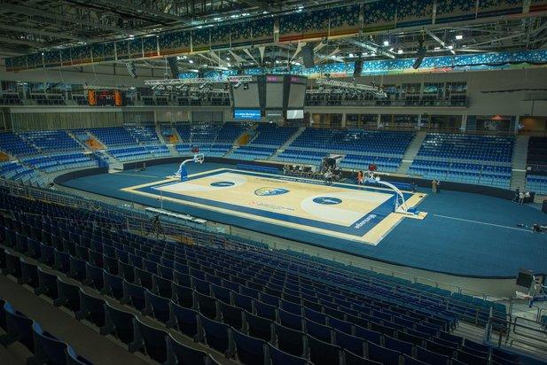 """Eispalast """"Arena Mytischtschi"""" Stadt Moskau, Russland"""