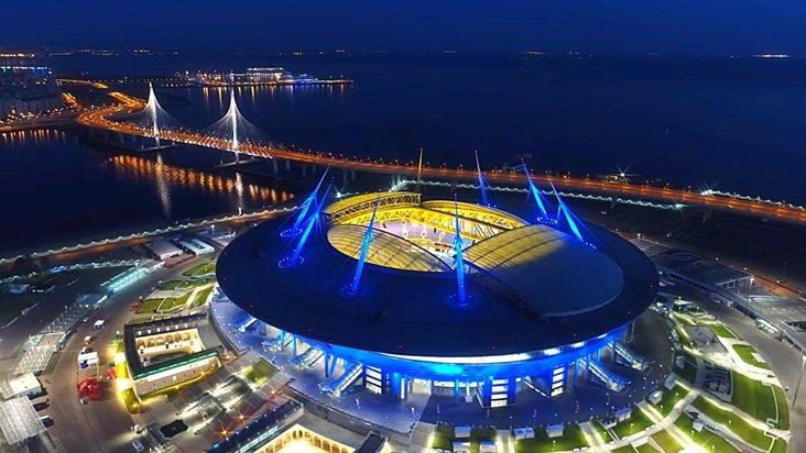 """Stadion """"Sankt-Petersburg"""" Stadt Sankt-Petersburg, Russland"""
