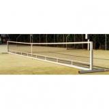 Freistehend Tennispfosten mit Netz; Set