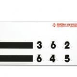 Anzeigetafel für Tennis